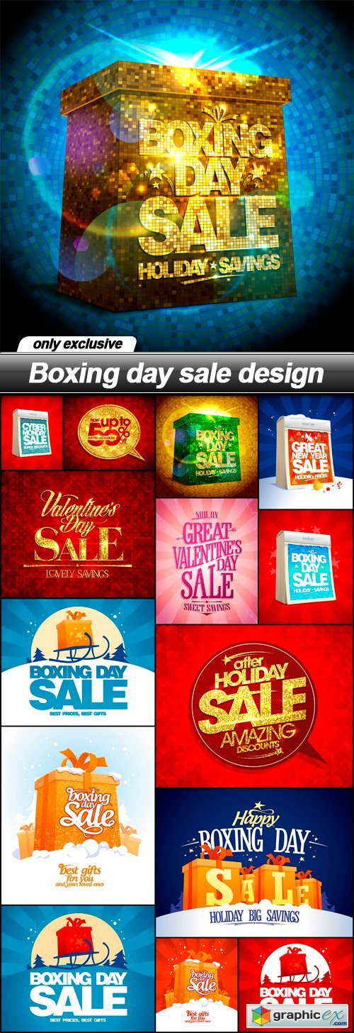 Boxing day sale design - 15 EPS
