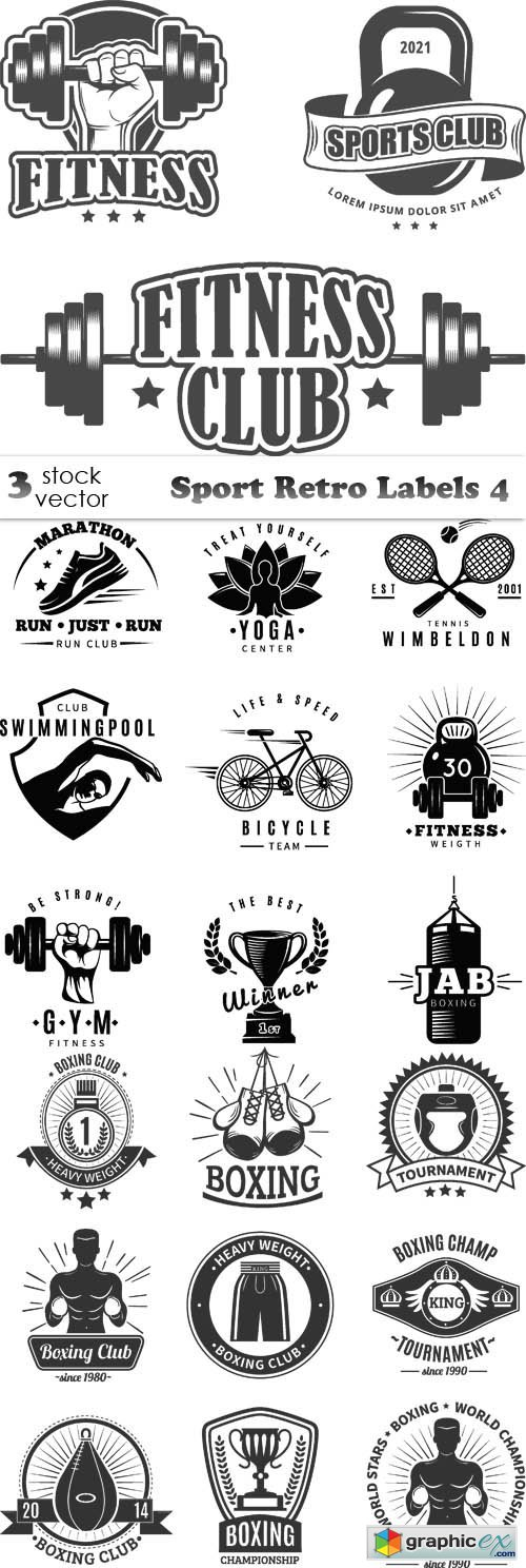Sport Retro Labels 4