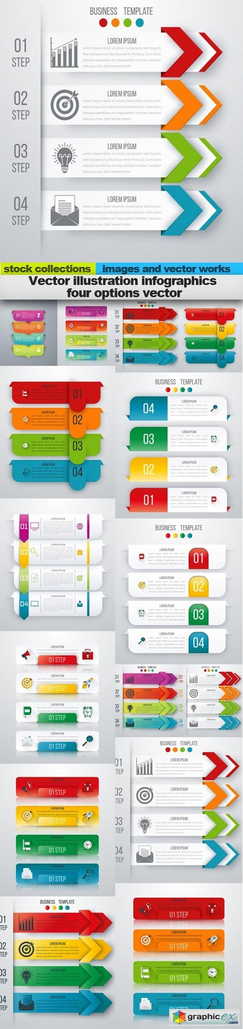 Illustration infographics four options vector, 15 x EPS