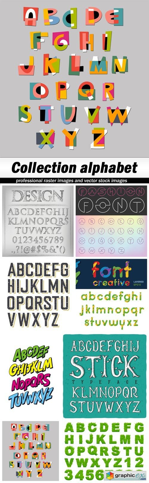 Collection alphabet - 8 EPS