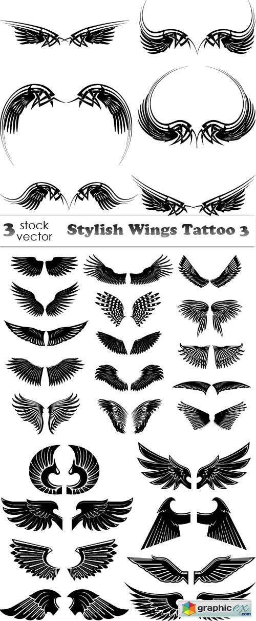 Stylish Wings Tattoo 3