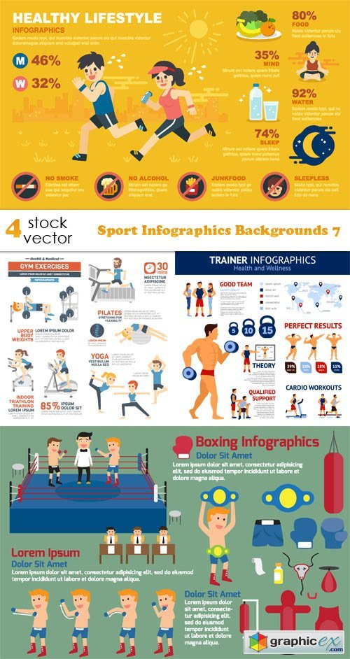 Sport Infographics Backgrounds 7
