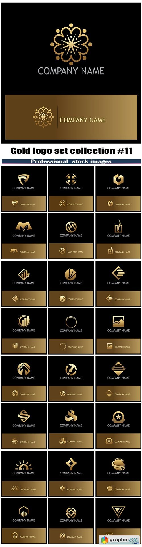 Gold logo set collection #11