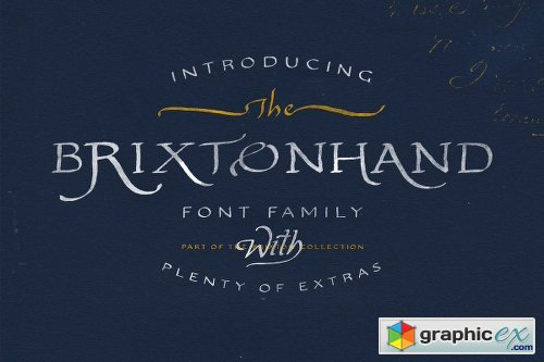 Brixton Hand Family - 4 FONTS