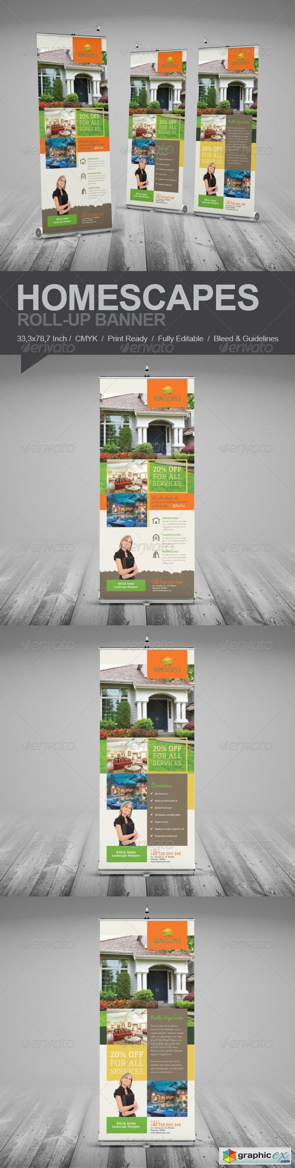 Real Estate And Homescapes Roll-Up Banner