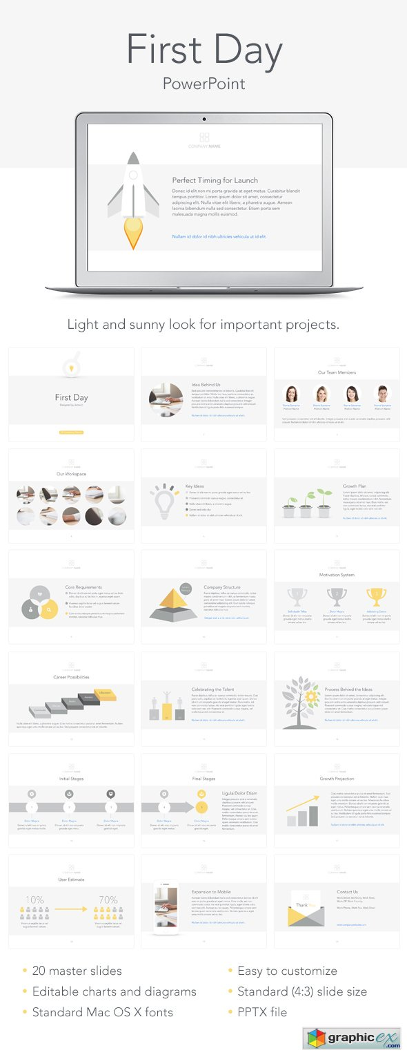 First Day PowerPoint Template 13563807