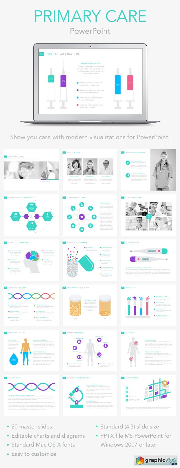 Primary Care PowerPoint Template 13456090