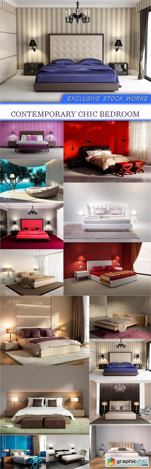 Contemporary chic bedroom 14 X JPEG