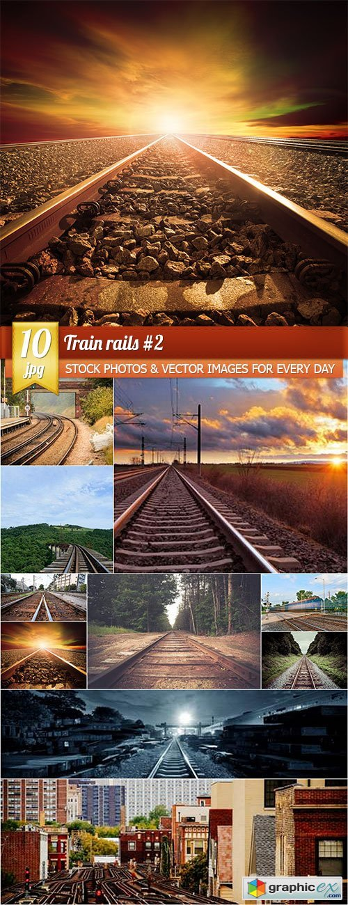 Train rails 2, 10 x UHQ JPEG