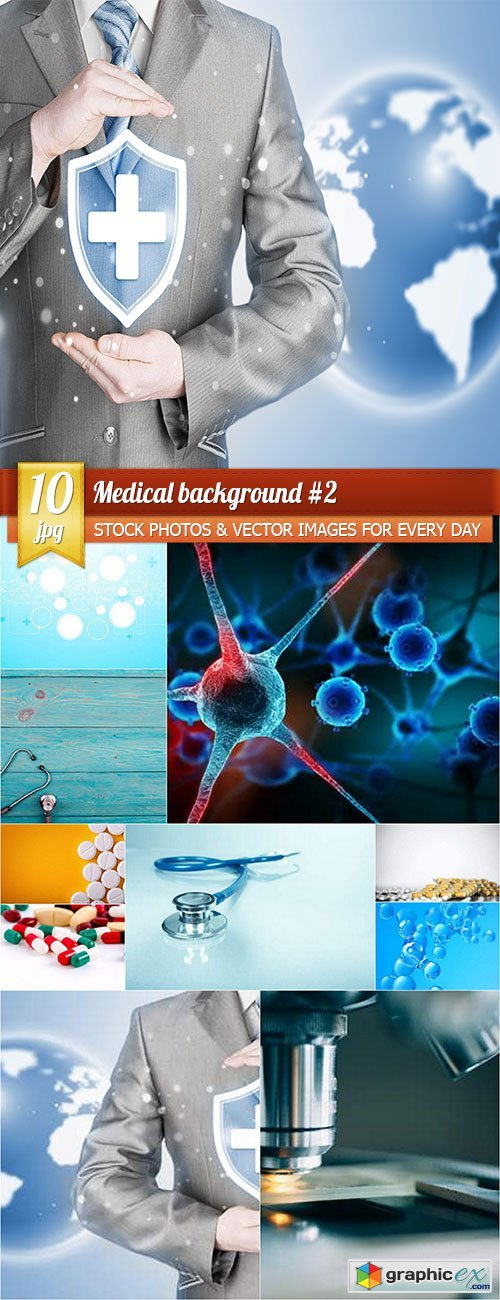 Medical background 2, 10 x UHQ JPEG