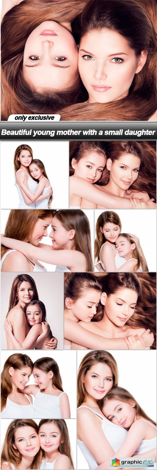 Beautiful young mother with a small daughter - 10 UHQ JPEG