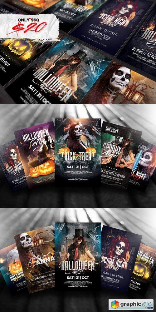 10 Halloween Flyers Bundle 955261 » Free Download Vector Stock Image