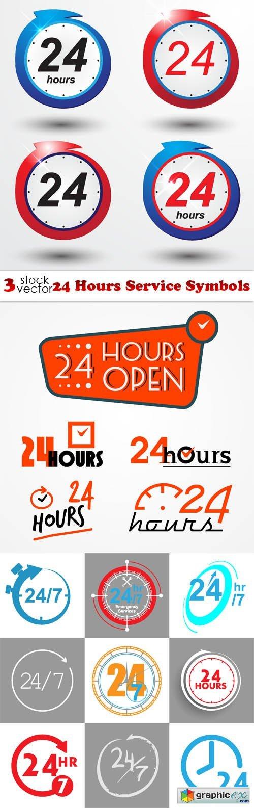 24 Hours Service Symbols