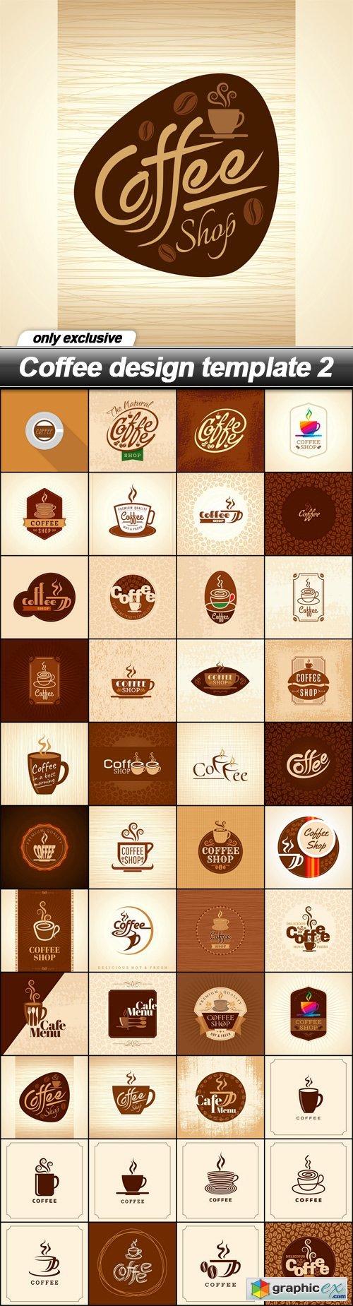 Coffee design template 2 - 44 EPS