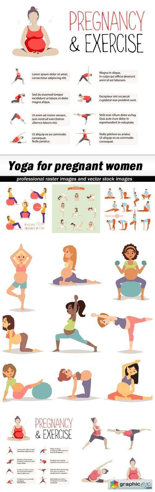Yoga for pregnant women - 6 EPS
