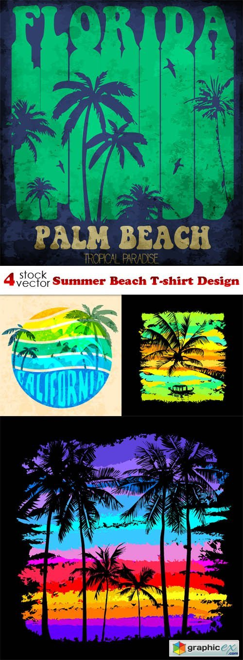 Summer Beach T-shirt Design