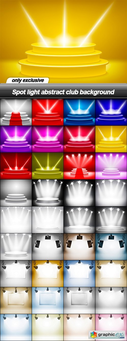 Spot Light Abstract Club Background 36 Eps Free Download