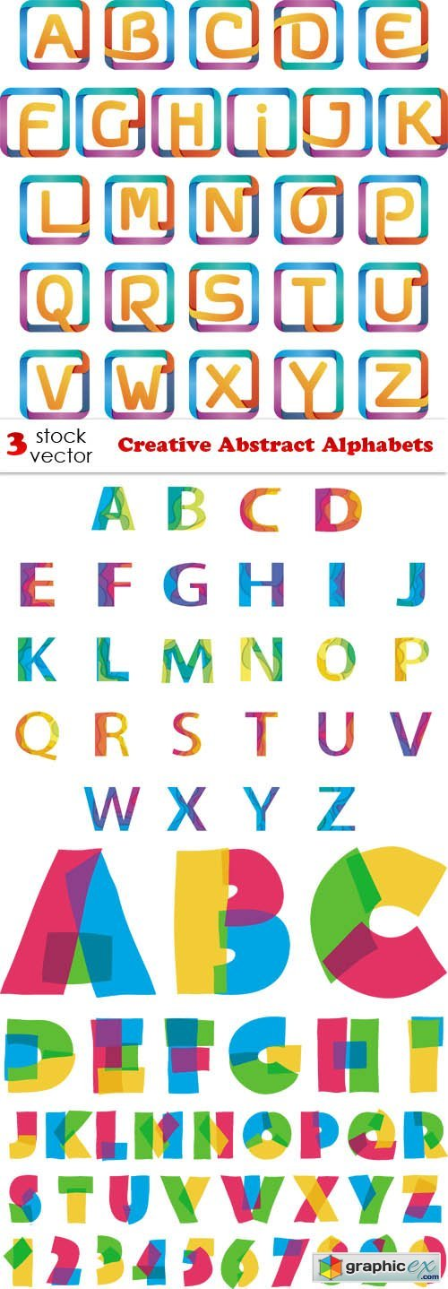 Creative Abstract Alphabets