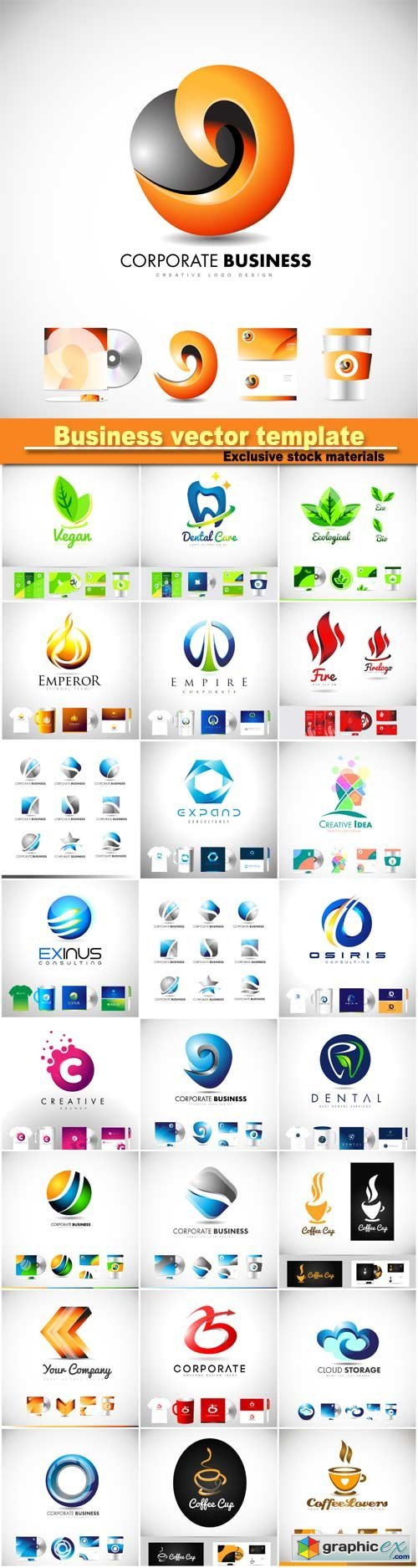 Corporate business vector logo icon