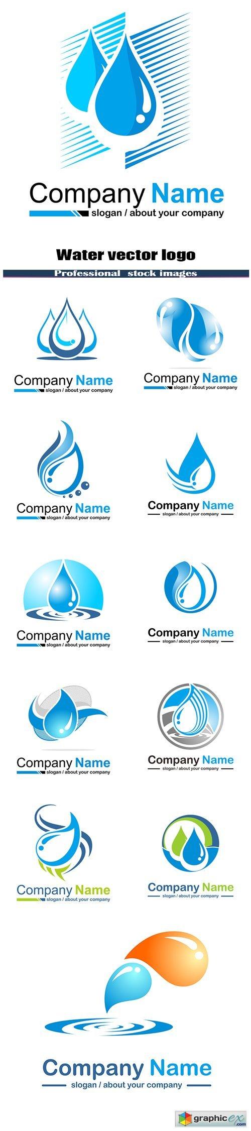Water vector logo
