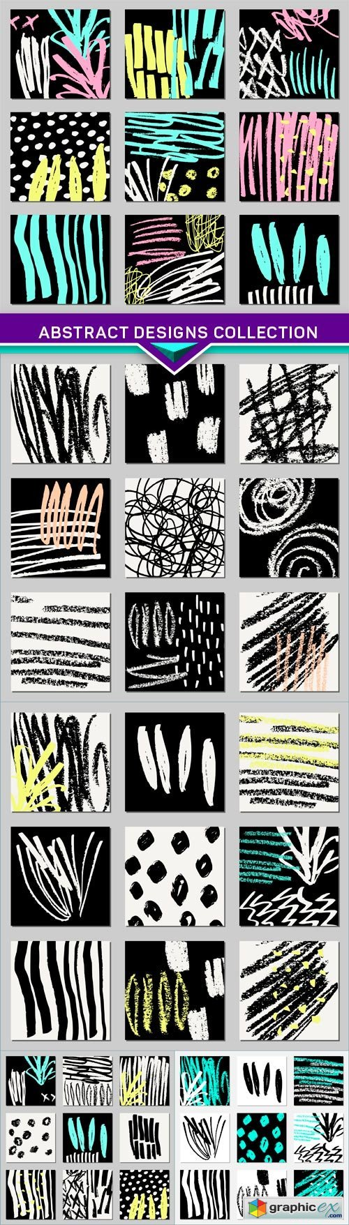 Abstract Designs Collection 5X EPS