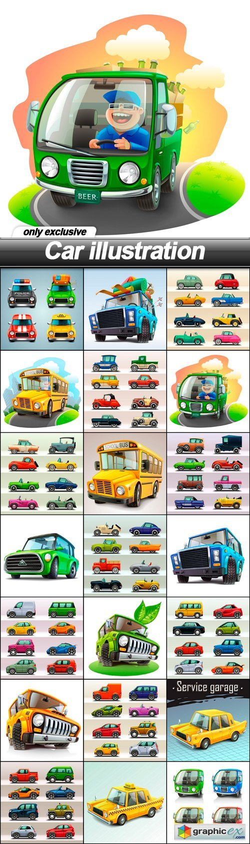 Car illustration - 21 EPS