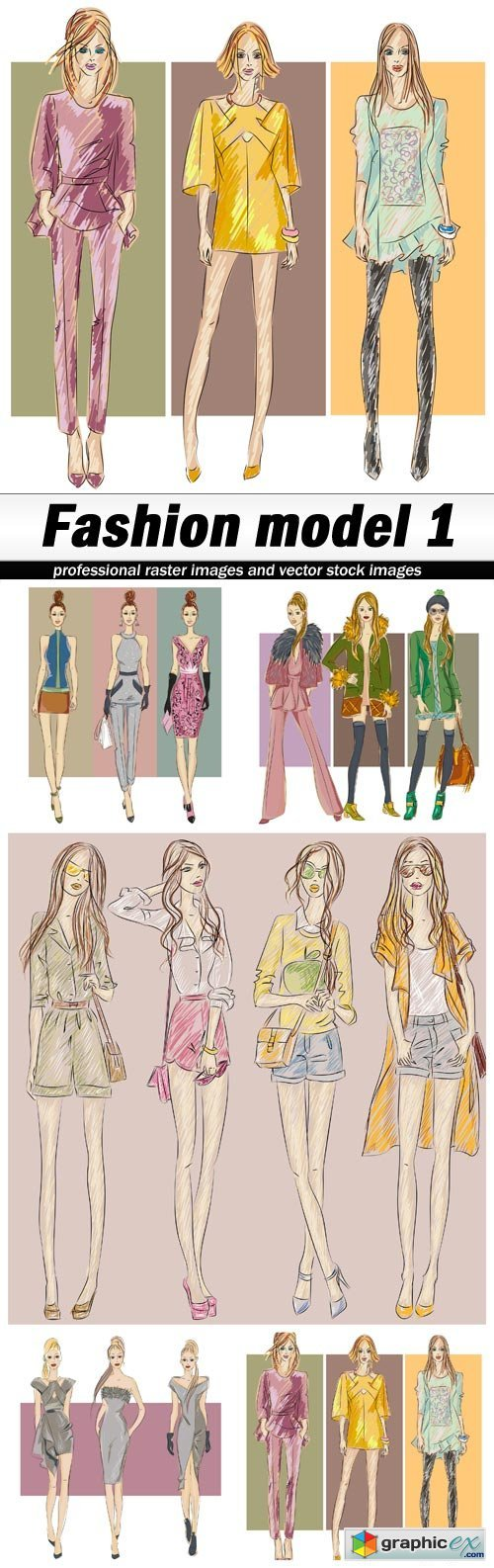 Fashion model 1 - 5 EPS