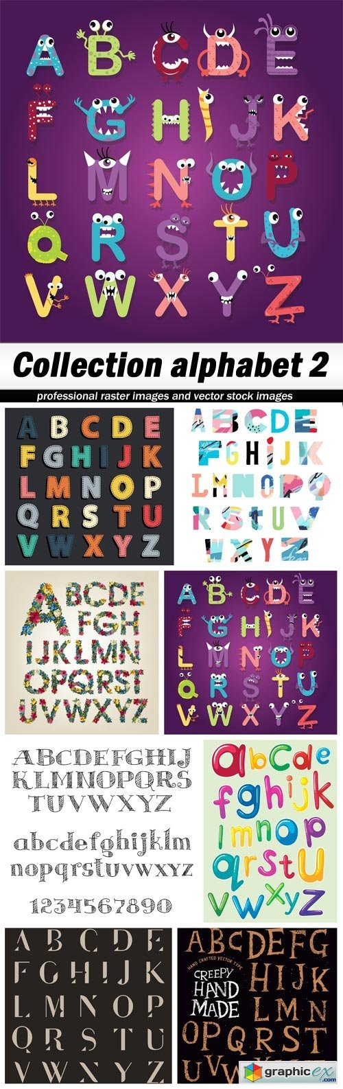 Collection alphabet 2 - 8 EPS