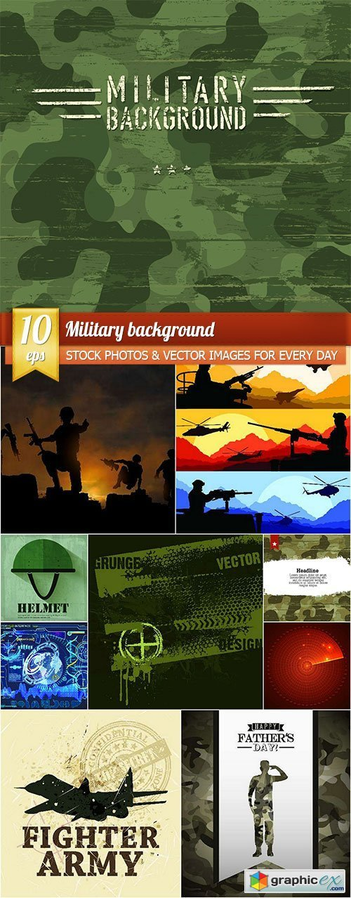 Military background, 10 x EPS
