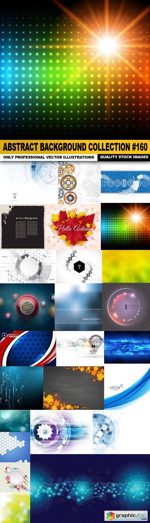 Abstract Background Collection #160 - 25 Vector