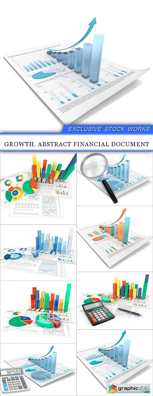 Growth. Abstract financial document 8X JPEG