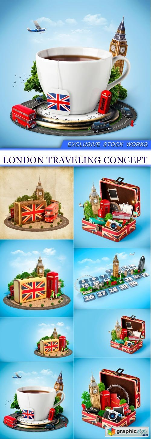 London traveling concept 8X JPEG