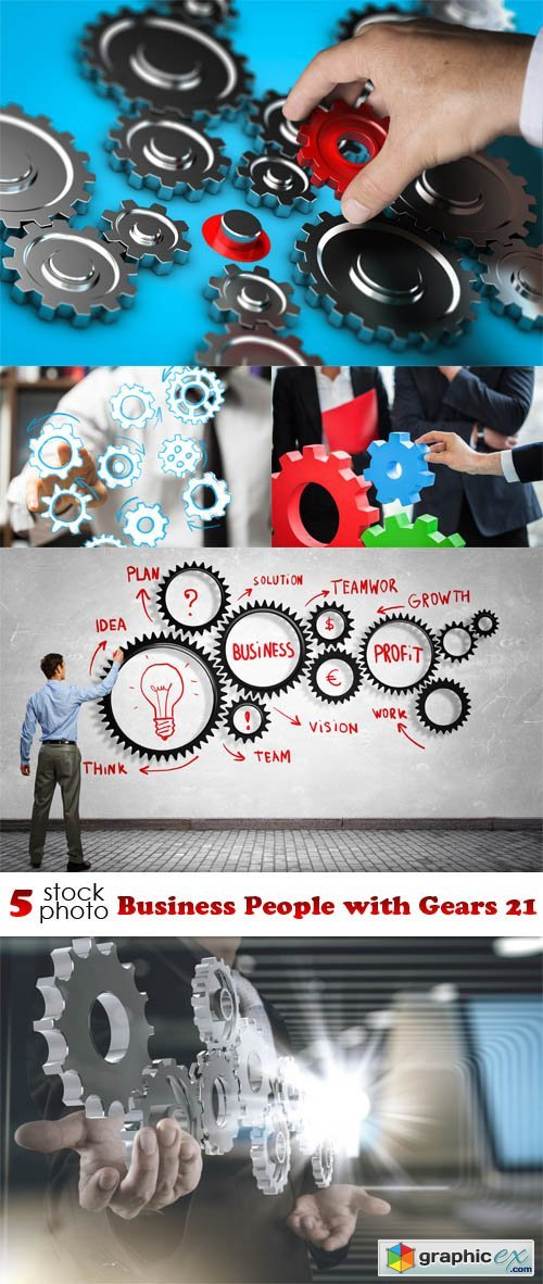 Business People with Gears 21