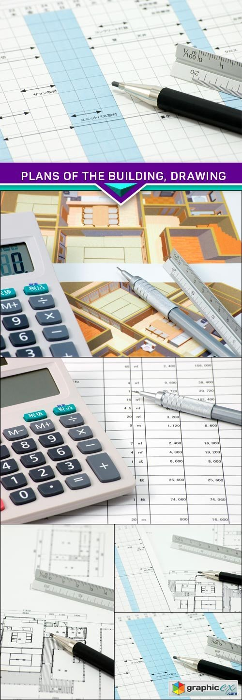 Plans of the building drawing 5x jpeg stock images for Construction drawing apps