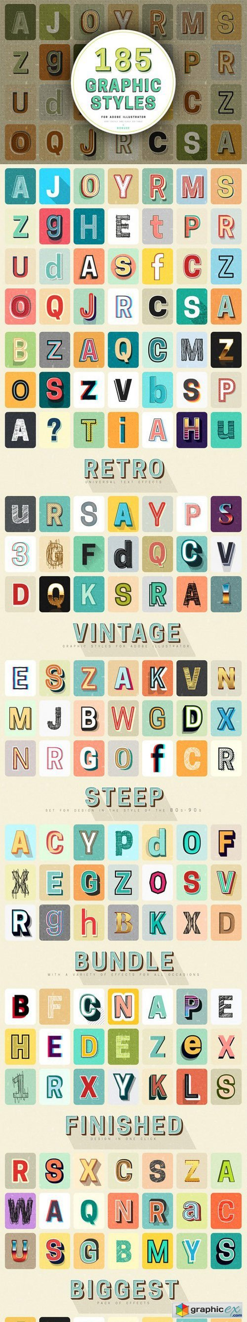 Retro Typography Graphic Styles