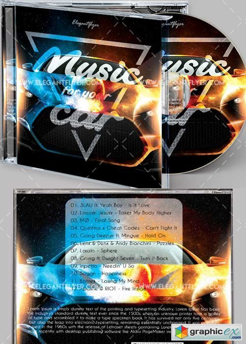 Music for Your Car V1 Premium CD Cover PSD Template
