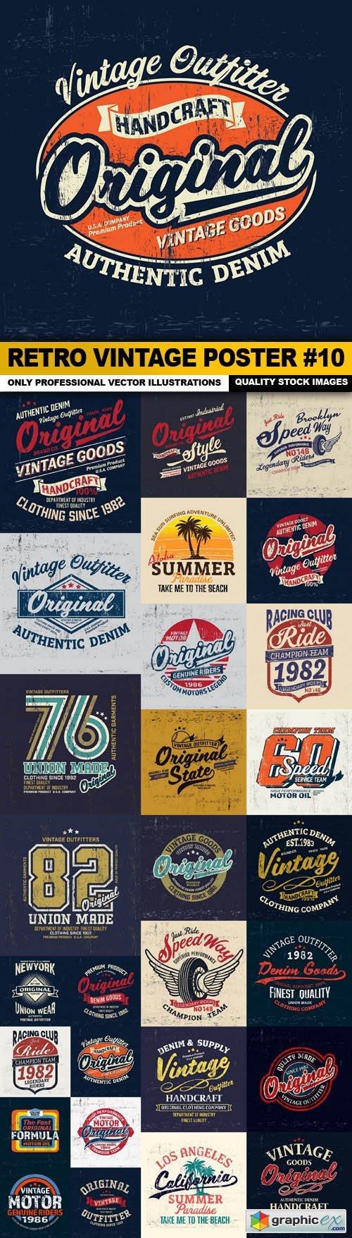 Retro Vintage Poster #10 - 28 Vector