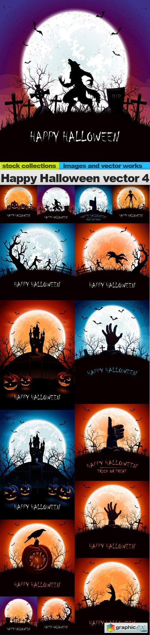 Happy Halloween vector 4, 15 x EPS