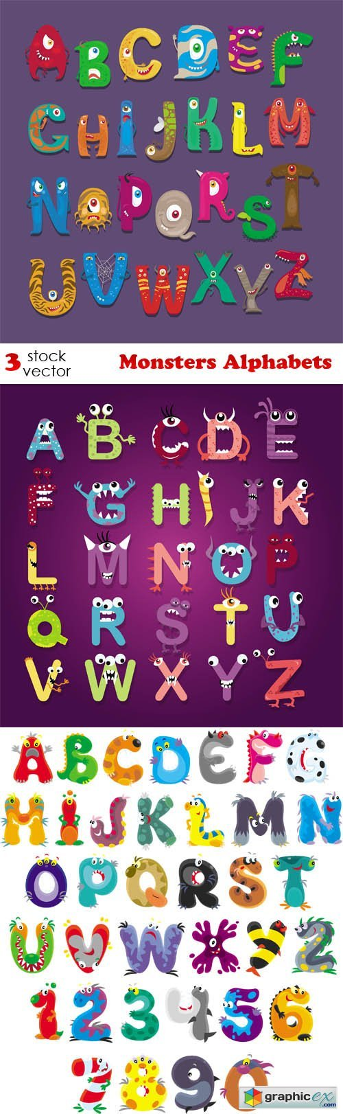 Monsters Alphabets