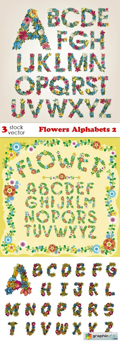 Flowers Alphabets 2