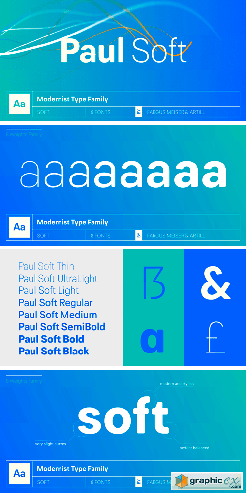 Paul Grotesk Soft Font Family » Free Download Vector Stock