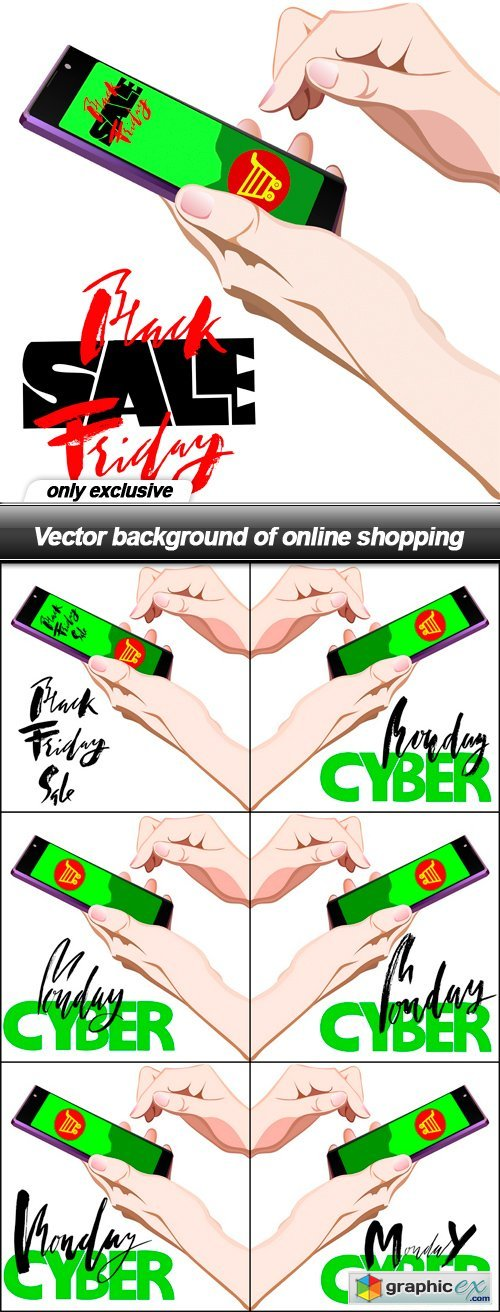 Background of online shopping - 7 EPS