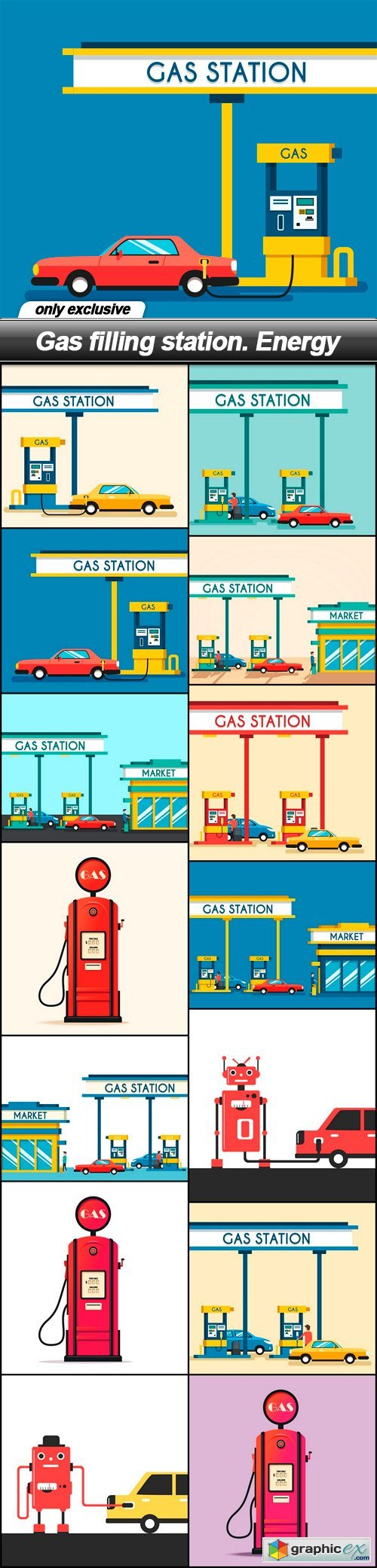 Gas filling station. Energy - 14 EPS