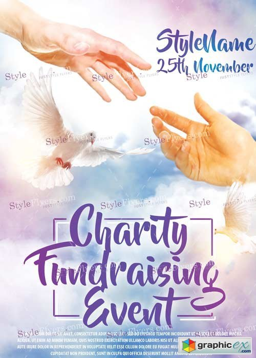 Charity Fundraising Event PSD 11 Flyer Template