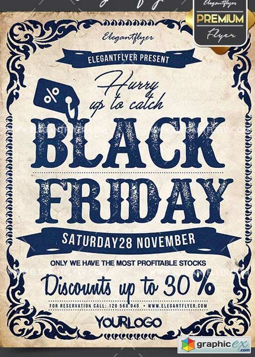 Black Friday V02 Flyer PSD Template + Facebook Cover