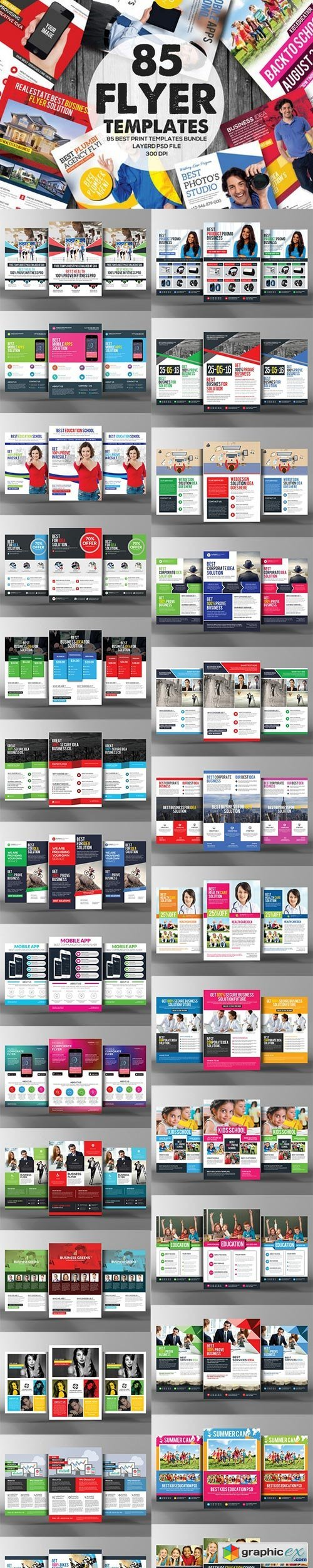 85 Corporate Business Flyers Bundle