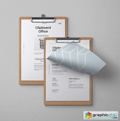Psd Clipboard Stationery Mockup