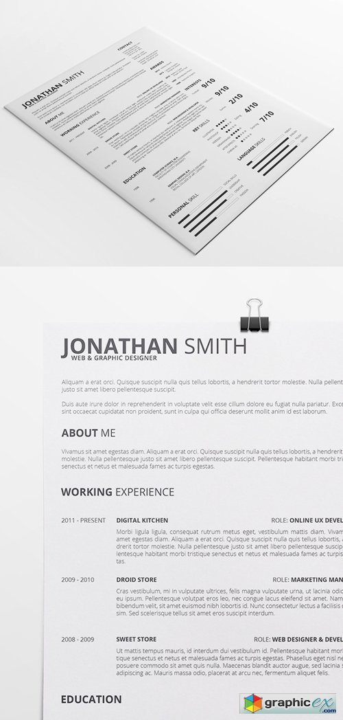 Universal Resume Template vol. 1