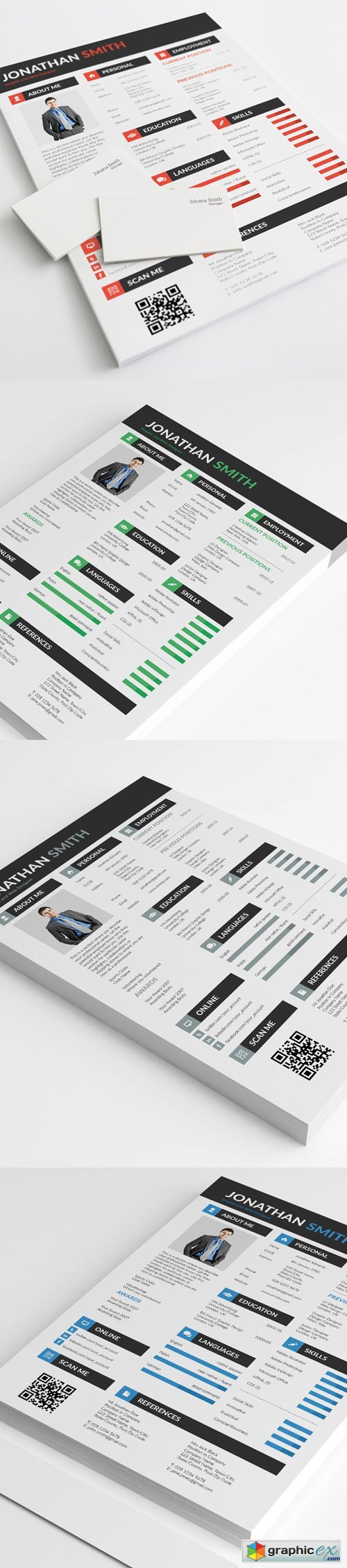 All in One PSD Resume Template