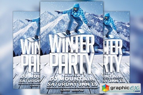 Winter Party Flyer Template 977666